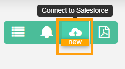 Connect to Salesforce button screen grab